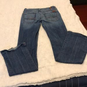 *Medium wash Seven for all mankind jeans